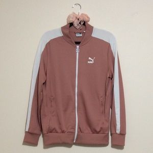 Puma Nude Pink and White Track Jacket
